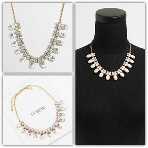 J.CREW Crystal Collar Necklace - Clear